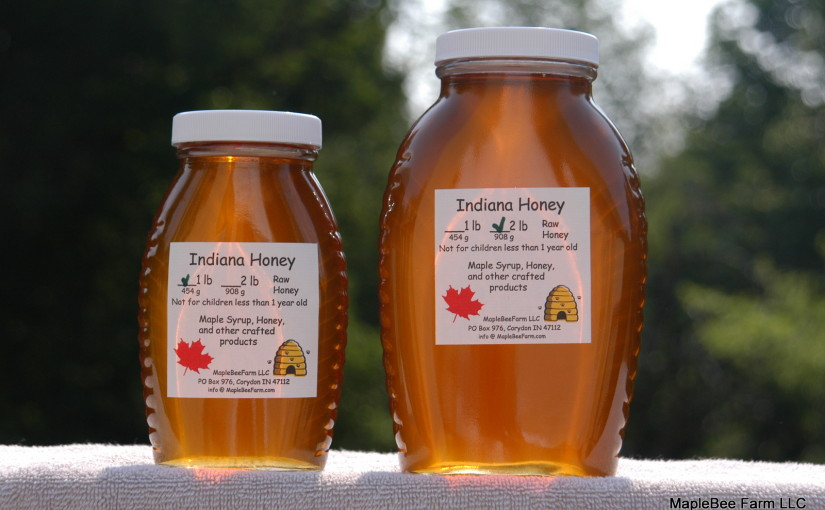 Raw, unfiltered, Indiana honey.